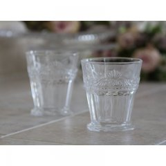 Chic Antique Glass with french fleur-de-lis