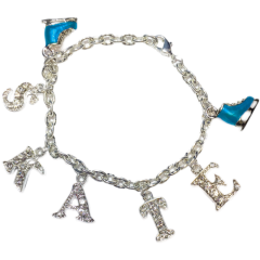 ChloeNoel Armband mit Charms (Silver/Turquoise)