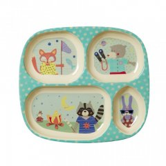 "Kids 4 room Melamine plate with boys ""happy..."