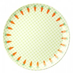 "Kids Melamin Lunch plate with ""gingham and..."