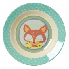 "Kids Melamine Bowl with boys ""happy camper""..."