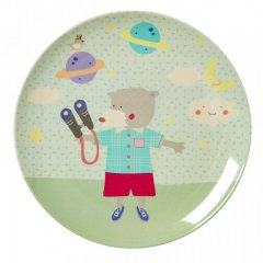 "Kids Melamine Lunch Plate with Boys ""happy..."