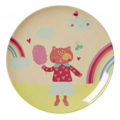 "Kids Melamine Lunch Plate with girls ""happy..."